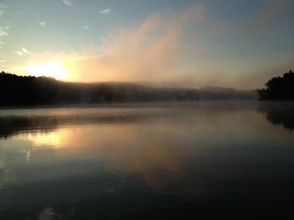Early morning on Kerr Lake