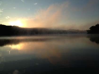 Early morning on Kerr Lake